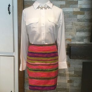 NWT ANN TAYLOR LAYERS OF COLOR SKIRT